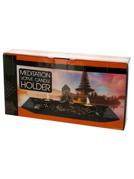 Meditation Votive Candle Holders with Stones Set (Available in a pack of 1)