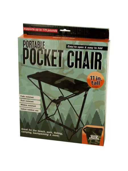 Portable Pocket Chair with Carrying Case (Available in a pack of 1)