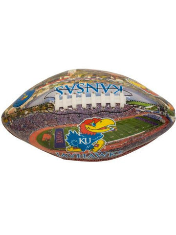University of Kansas Deflated Football (Available in a pack of 1)