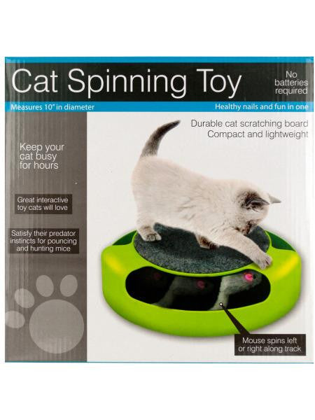 Cat Scratch Pad Spinning Toy with Mouse (Available in a pack of 1)