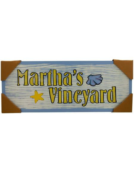 Martha's Vineyard Wall Art (Available in a pack of 1)
