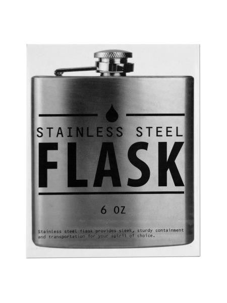 Stainless Steel Hip Flask (Available in a pack of 4)