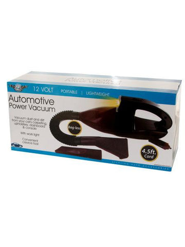 Automotive Power Vacuum with Work Light (Available in a pack of 1)