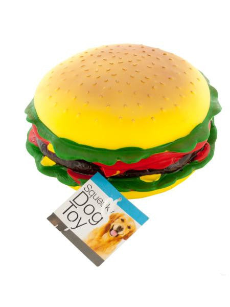 Giant Burger Squeaky Dog Toy (Available in a pack of 4)