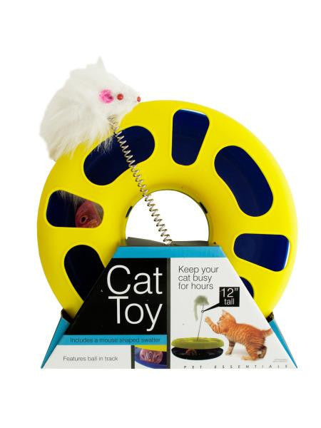 Ball Track Cat Toy with Mouse Swatter (Available in a pack of 1)