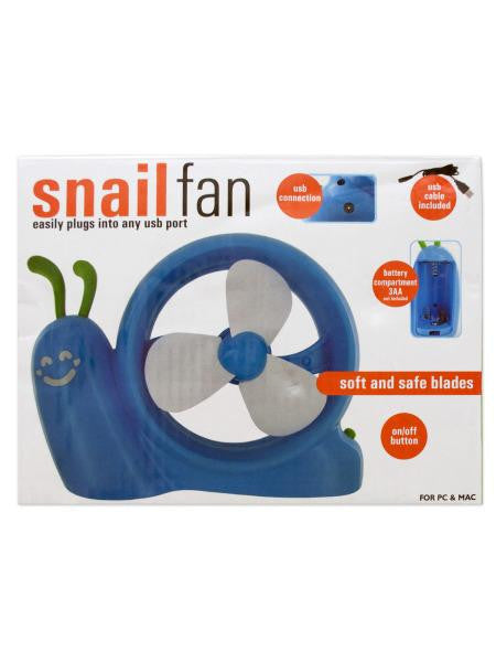 Battery Operated Snail USB Fan (Available in a pack of 4)