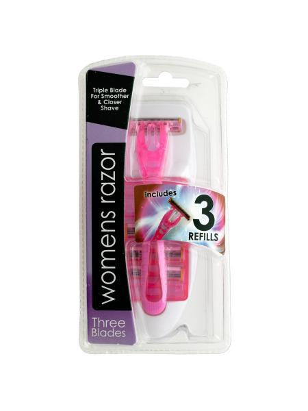 Triple Blade Womens Razor with Refills (Available in a pack of 12)
