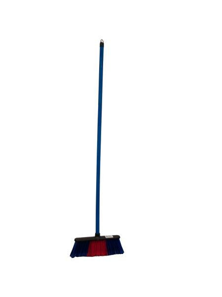 Broom with Colored Bristles and Handle (Available in a pack of 8)