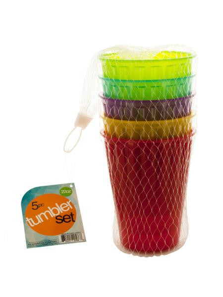 Medium Plastic Tumbler Set (Available in a pack of 4)