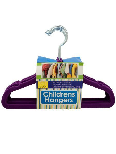 Velvet-Flocked Children's Hangers Set (Available in a pack of 4)