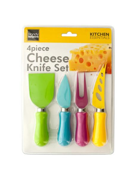 Easy Grip Multi-Colored Cheese Knife Set (Available in a pack of 4)