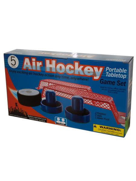 Portable Tabletop Air Hockey Game Set (Available in a pack of 1)