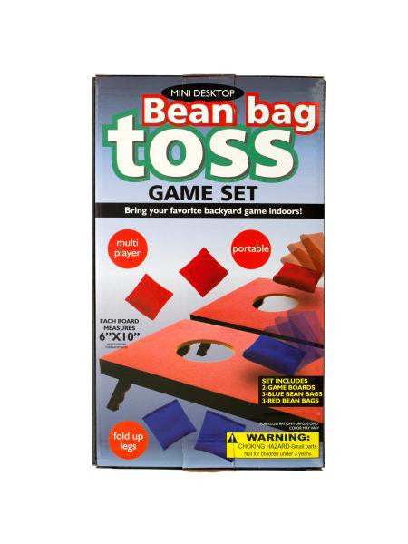 Portable Mini Desktop Bean Bag Toss Game Set (Available in a pack of 1)