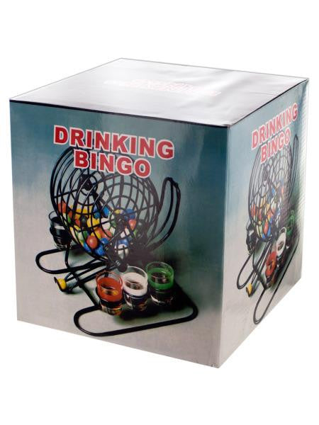 Bingo Drinking Game with Cage & Shot Glasses (Available in a pack of 1)