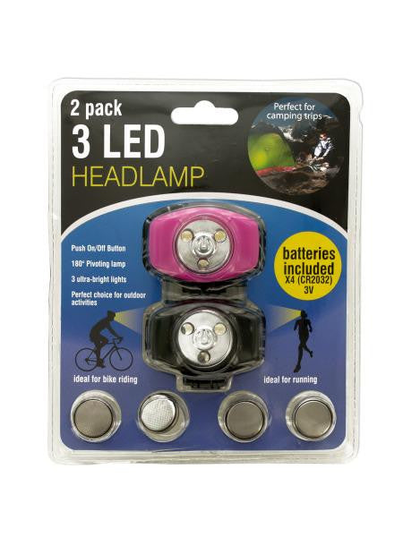 3 LED Headlamp Set (Available in a pack of 4)