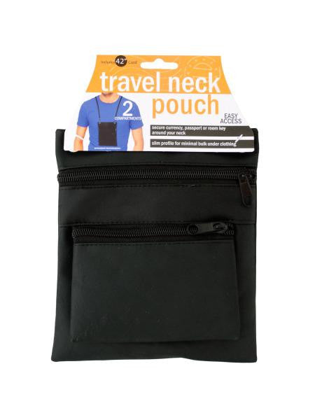 Travel Neck Pouch (Available in a pack of 6)