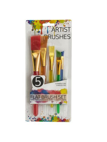 Artist Flat Paint Brush Set (Available in a pack of 12)