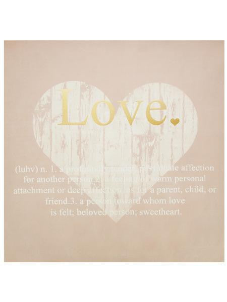 Love Defined Canvas Wall Art Print (Available in a pack of 1)