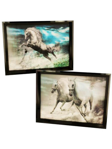 3D Holographic Horse Framed Wall Art (Available in a pack of 2)