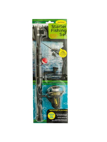 Junior Starter Fishing Set with Extendable Rod (Available in a pack of 1)