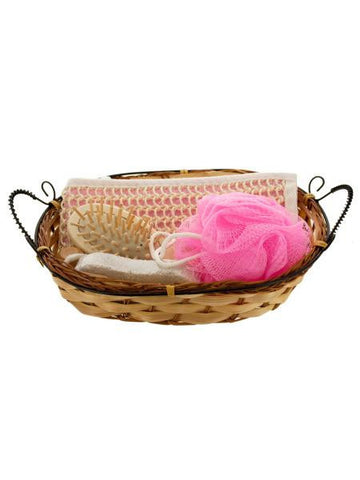 Bath Set in Wicker Basket (Available in a pack of 2)