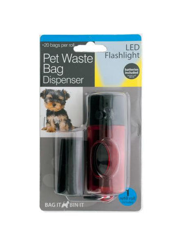 Pet Waste Bag Dispenser LED Flashlight (Available in a pack of 6)