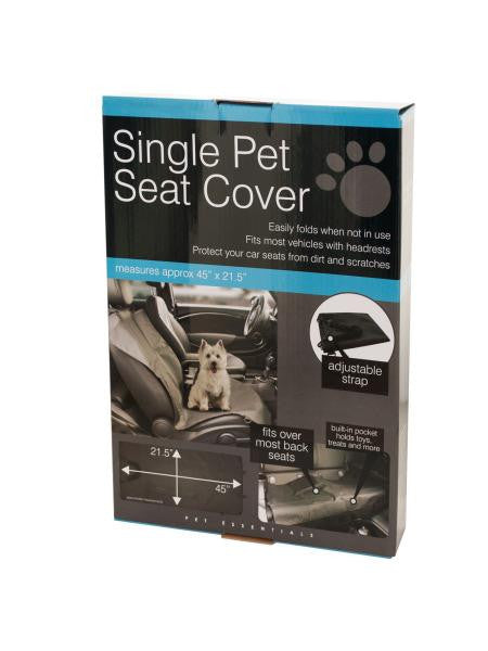 Single Pet Auto Seat Cover (Available in a pack of 4)