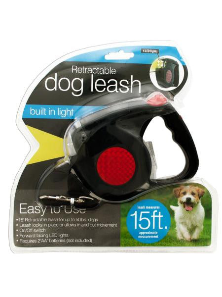 Retractable Dog Leash with LED Light (Available in a pack of 1)