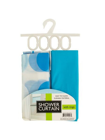 Shower Curtain with Liner & Rings Set (Available in a pack of 2)