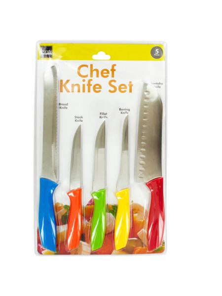 Colorful Chef Knife Set (Available in a pack of 1)