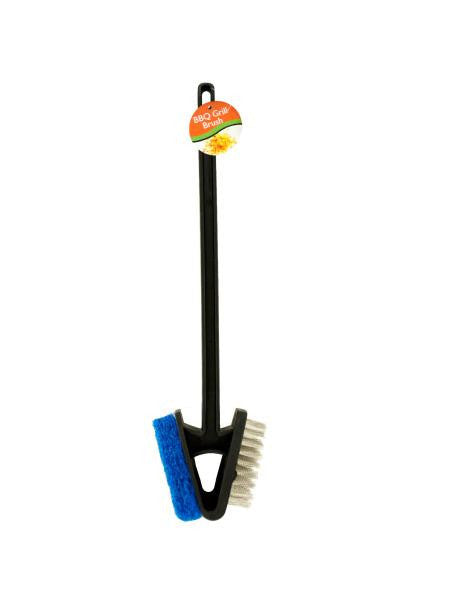 Barbecue Grill Brush with Scour Pad (Available in a pack of 12)