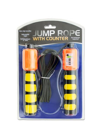 Jump Rope with Counter & Non-Slip Handles (Available in a pack of 5)