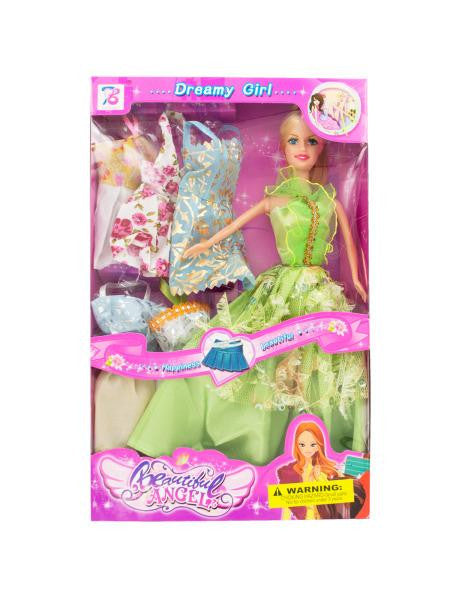 Dreamy Fashion Doll with Dresses (Available in a pack of 4)