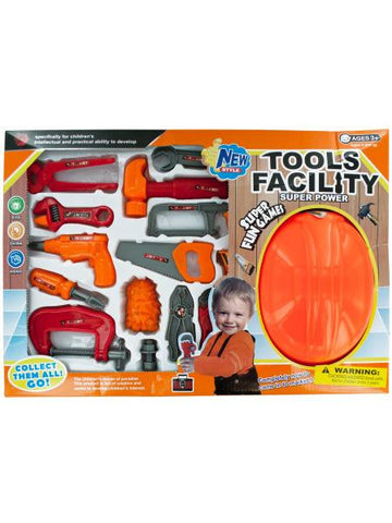 Tool Play Set with Helmet (Available in a pack of 1)