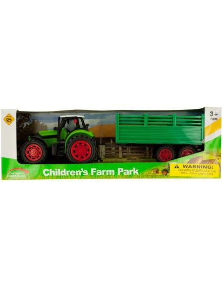 Friction Powered Farm Tractor Toy Set (Available in a pack of 1)