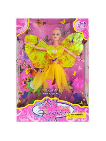 Fashion Doll with Butterfly Dress & Accessories (Available in a pack of 1)
