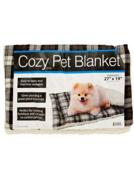 Cozy Plaid Pet Blanket with Fleece Padding (Available in a pack of 1)