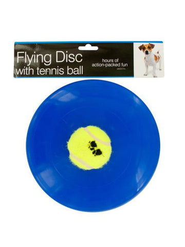 Flying Disc with Tennis Ball Dog Toy (Available in a pack of 6)