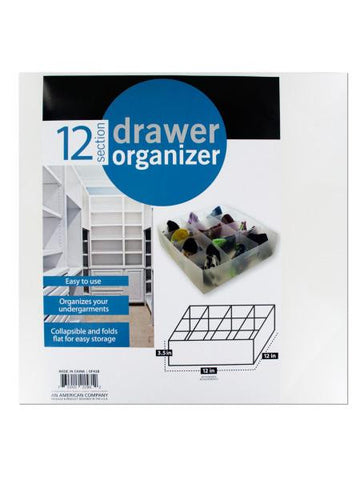 12 Section Drawer Organizer (Available in a pack of 4)