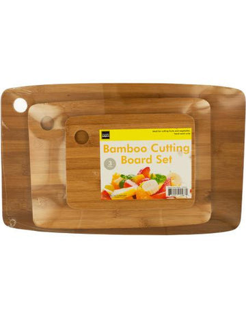Bamboo Cutting Board Set (Available in a pack of 1)