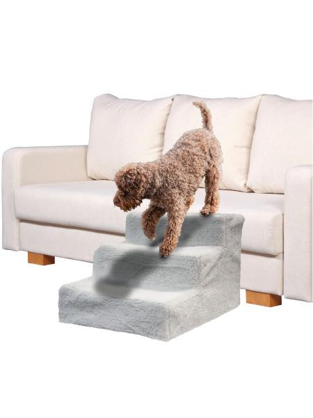 Pet Stairs with Sheepskin-Style Cover (Available in a pack of 1)