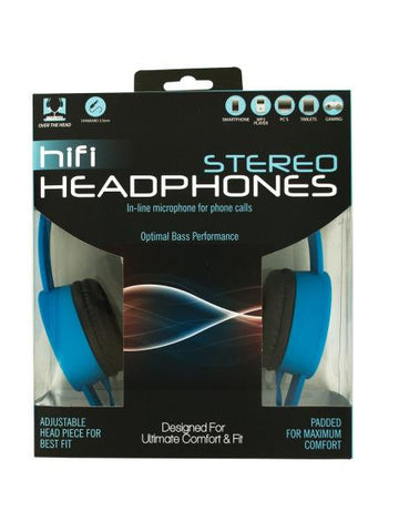 Adjustable Stereo Headphones with In-Line Microphone (Available in a pack of 1)