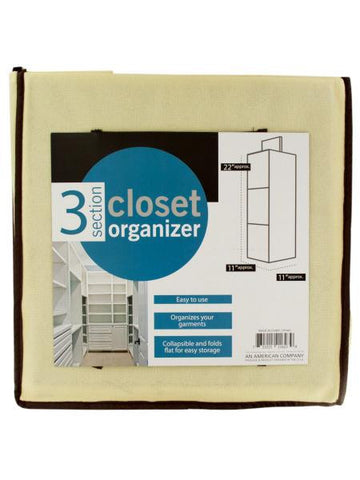 3 Section Closet Organizer (Available in a pack of 4)