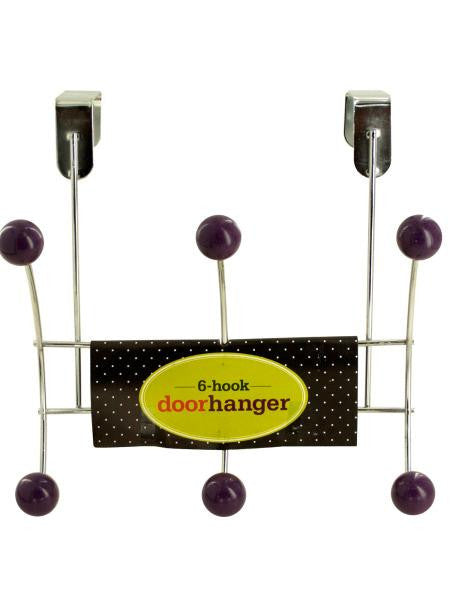 6 Hook Over Door Hanger (Available in a pack of 12)