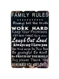 Family Rules Paneled Wood Wall Sign (Available in a pack of 1)