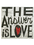 The Answer is Love Canvas Wrapped Wall Art (Available in a pack of 4)