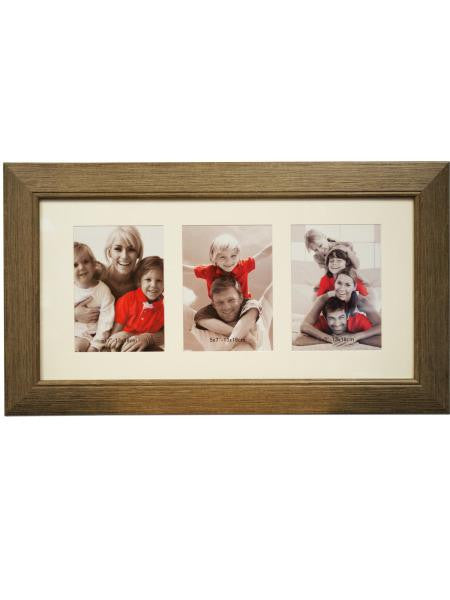 Simulated Wood Collage Photo Frame (Available in a pack of 1)