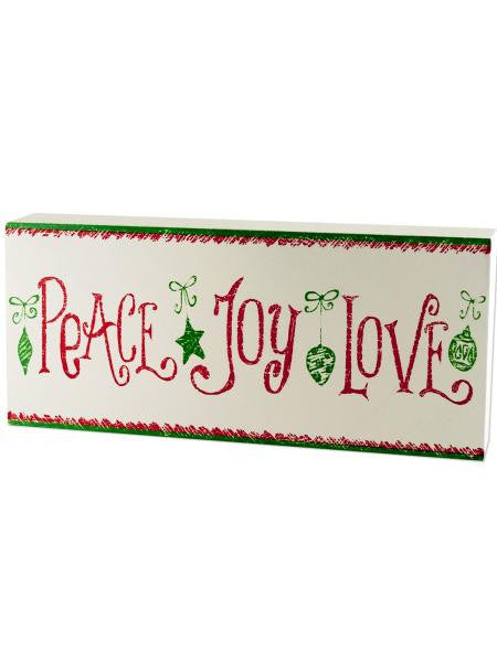 Christmas Theme Wood Block Sign (Available in a pack of 6)