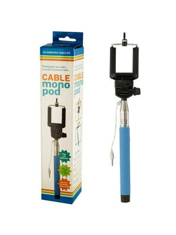 Cable Monopod Stick With Push Button (Available in a pack of 2)