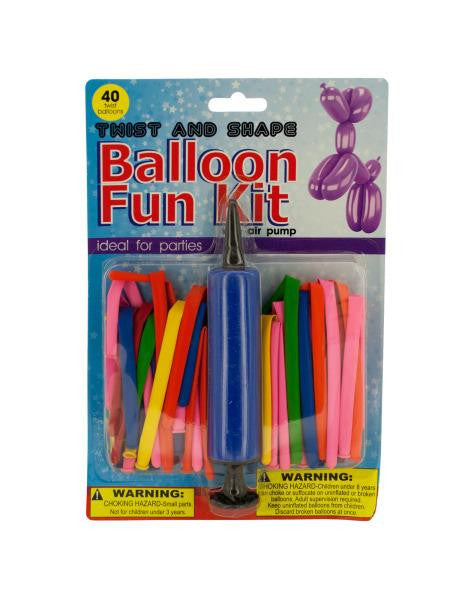 Twist & Shape Balloon Fun Kit with Air Pump (Available in a pack of 4)